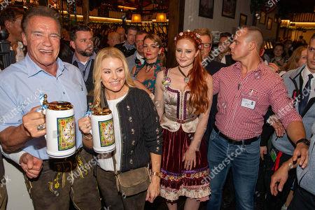 Arnold Schwarzenegger with girlfriend Heather Milligan, Barbara Meier