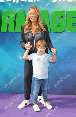 Stock Photo of Claire Sweeney and Jaxon Reilly