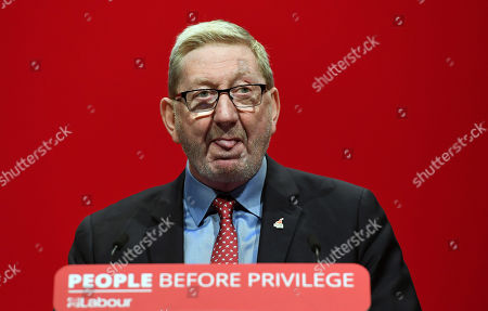 Stock Photo of General Secretary of Unite the Union, Leonard David McCluskey delivers a speech on the third day of the the Labour Party Conference in Brighton, Britain, 23 September 2019.  The Labour Party Conference runs from 21 to 25 September.