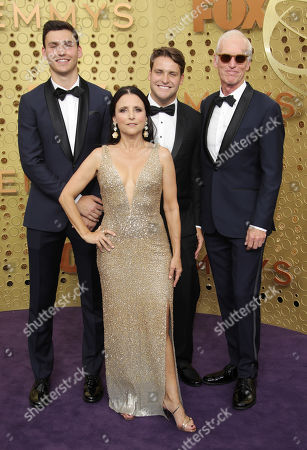 Julia Louis-Dreyfus and Brad Hall with their sons