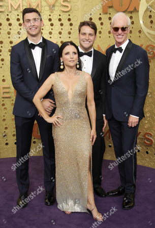 Stock Photo of Julia Louis-Dreyfus and Brad Hall with their sons