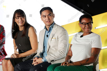Stock Picture of Deborah Bial (President & Founder, The Posse Foundation), Ryan Letada (CEO & Co-Founder, NextDayBetter), Belinda J. Smith (Global Head of Marketing Intelligence, Electronic Arts)