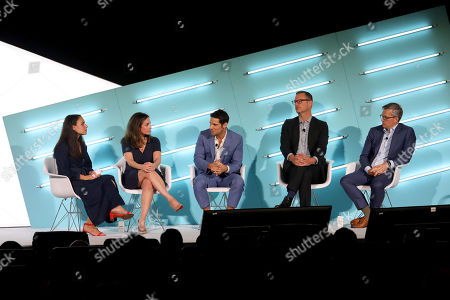 Stock Image of Alexandra Bruell (Advertising Reporter, The Wall Street Journal) Nicolle Pangis (CEO, NCC Media)  David Levy (CEO, OpenAP) John Halley (COO, Ad Solutions, Viacom)  Dave Clark (GM, Freewheel)