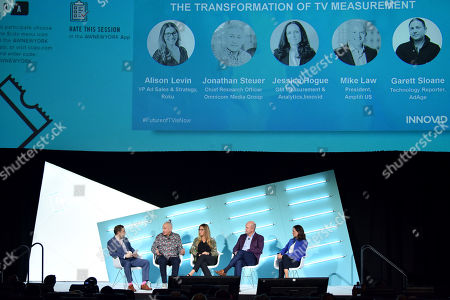 Garett Sloane (Technology Reporter, AdAge), Jonathan Steuer (Chief Research Officer, Omnicom Media Group), Alison Levin (VP Ad Sales & Strategy, Roku), Mike Law (President, Amplifi US), Jessica Hogue (GM Measurement & Analytics, Innovid)