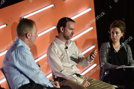 Stock Picture of JP Beauchamp (SVP, Media Center of Excellence, IRI Worldwide), Duncan McCall (Founder & Chief Executive Officer, PlaceIQ) and Christine Frohlich (VP of Product Management, Experian)