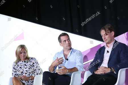 Stock Image of Amy Leifer (VP, Sales Planning & Operations, Xandr Media), Jon Holding (Head of Acquisition Marketing, US, Invesco) and Otto Bell (Chief Creative Officer, Courageous)