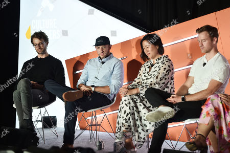Stock Picture of Johannes Quodt (Co-Founder & CEO, Koio), David Heath (Co-Founder & CEO, Bombas), Melissa Mash (CEO & Co-Founder, Dagne Dover), Nate Checketts (Co-Founder & CEO, Rhone)