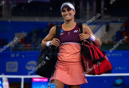 Monica Puig Puerto Rico after winning her first round match