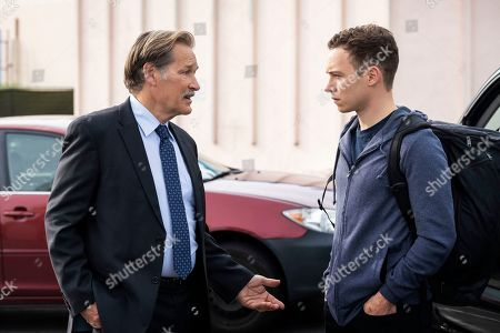 Stock Picture of James Remar as Detective Andre and Finn Cole as Joshua 'J' Cody