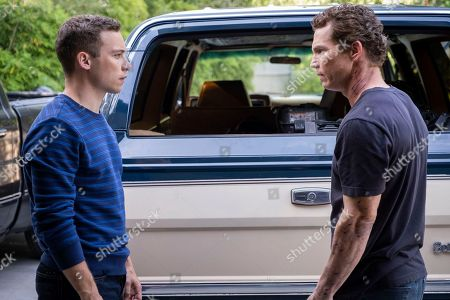 Finn Cole as Joshua 'J' Cody and Shawn Hatosy as Andrew 'Pope' Cody