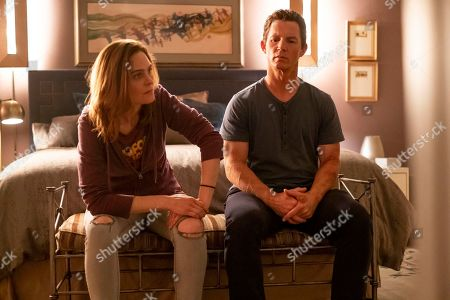 Emily Deschanel as Angela and Shawn Hatosy as Andrew 'Pope' Cody
