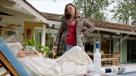 Ellen Barkin as Janine 'Smurf' Cody and Emily Deschanel as Angela