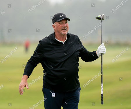 Ian Botham on the 2nd hole at The Old Course, St. Andrews.