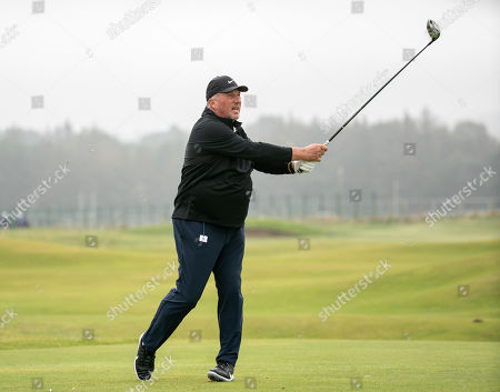Stock Photo of Ian Botham on the 2nd hole at The Old Course, St. Andrews.