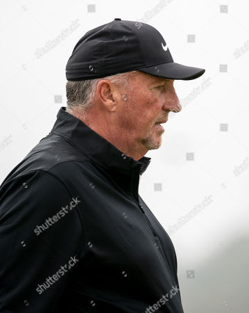 Stock Image of Ian Botham on the 2nd hole at The Old Course, St. Andrews.