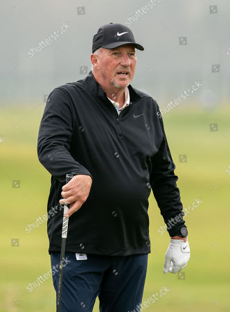Stock Picture of Ian Botham on the 2nd hole at The Old Course, St. Andrews.