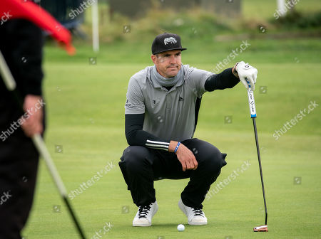 Kevin Pietersen on the 16th green at The Old Course, St. Andrews.