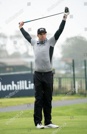Kevin Pietersen on the 17th tee at The Old Course, St. Andrews.