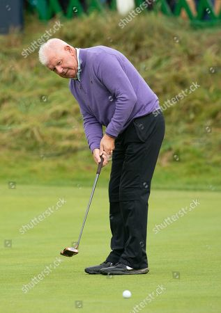 Gerry McIlroy, Rory McIlroy's Dad, on the 18th green at The Old Course, St. Andrews.