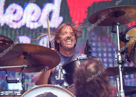 Stock Picture of Taylor Hawkins, Foo Fighters. Taylor Hawkins of the Foo Fighters performs at Pilgrimage Music and Cultural Festival at The Park at Harlinsdale, in Franklin, Tenn