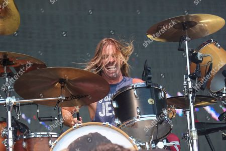 Stock Image of Taylor Hawkins, Foo Fighters. Taylor Hawkins of the Foo Fighters performs at Pilgrimage Music and Cultural Festival at The Park at Harlinsdale, in Franklin, Tenn