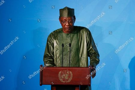 Chad's President Idriss Deby Itno addresses the Climate Action Summit in the United Nations General Assembly, at U.N. headquarters