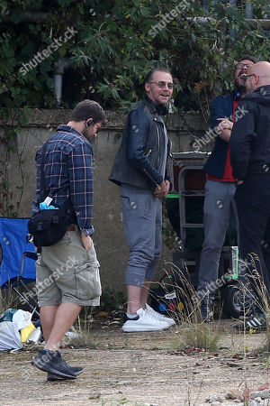 Simon Pegg filming and directing his new Amazon Prime show Truth Seekers.