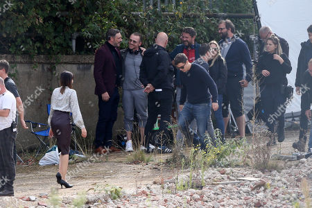 Stock Picture of Julian Barratt filming and directing his new Amazon Prime show Truth Seekers.