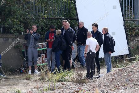 Editorial picture of 'Truth Seekers' TV show on set filming, Welwyn Garden City, Hertfordshire, UK - 23 Sep 2019