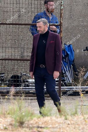 Stock Image of Julian Barratt filming and directing his new Amazon Prime show