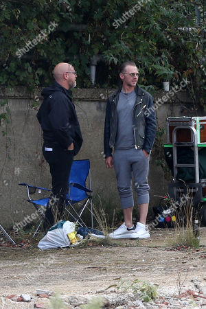 Simon Pegg filming and directing his new Amazon Prime show