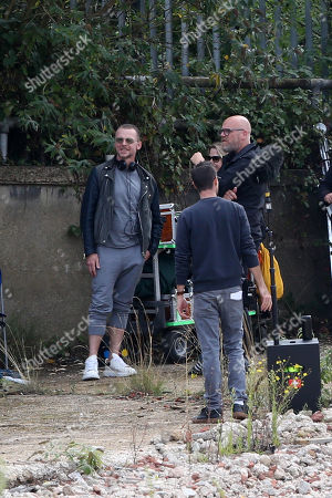 Stock Picture of Simon Pegg filming and directing his new Amazon Prime show Truth Seekers.
