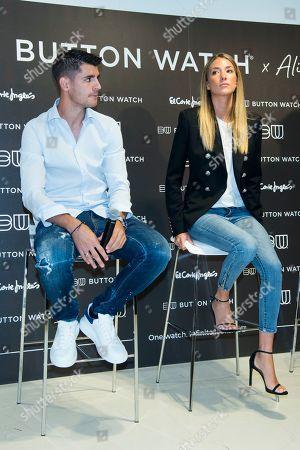 Alice Campello and her husband Alvaro Morata, Atletico de Madrid soccer player
