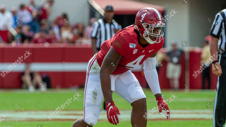 Alabama linebacker Christopher Allen (4) during the second half of an NCAA college football game against Southern Miss, in Tuscaloosa, Ala