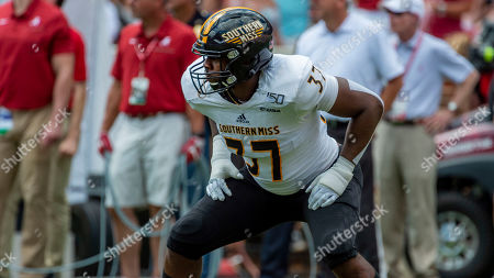 Southern Miss linebacker Devin Thomas (37) during the second half of an NCAA college football game against Southern Miss, in Tuscaloosa, Ala