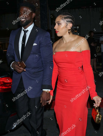 Editorial image of Lance Gross and Rebecca Gross out and about, Los Angeles, USA - 22 Sep 2019