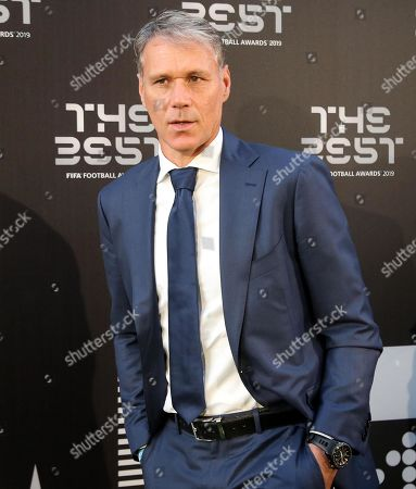 Picture made available 24 September 2019 of former Dutch international and AC Milan forward Marco Van Basten arrives for the Best FIFA Football Awards 2019 in Milan, Italy, 23 September 2019.