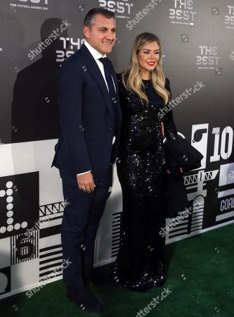Stock Photo of Picture made available 24 September 2019 of former former Italian international Christian Vieri (L) and partner Costanza Caracciolo arriving for the Best FIFA Football Awards 2019 in Milan, Italy, 23 September 2019.