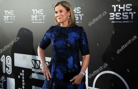 Picture made available 24 September 2019 of The Best FIFA Women's Coach of the year nominee Jill Ellis arriving for the Best FIFA Football Awards 2019 in Milan, Italy, 23 September 2019.