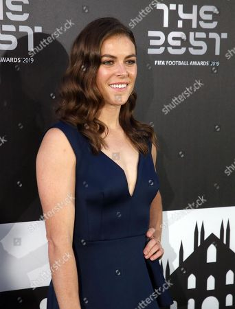 Picture made available 24 September 2019 of of FIFA FIFPro Women's World X1 Finalist Kelley O'Hara of USA arriving for the Best FIFA Football Awards 2019 in Milan, Italy, 23 September 2019.