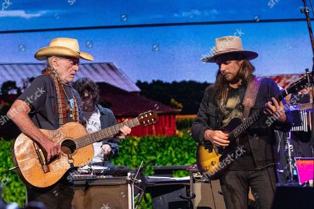 Stock Image of Willie Nelson and Lukas Nelson