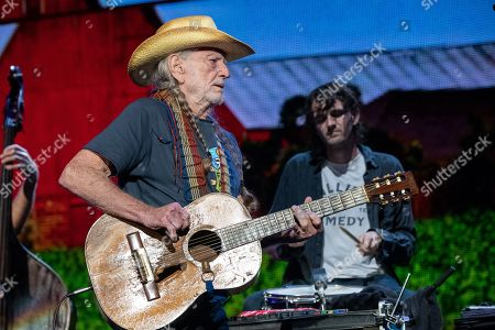 Stock Image of Willie Nelson and Micah Nelson