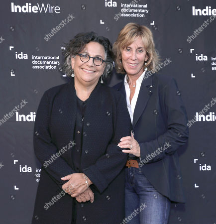 Stock Photo of Executive Director of the Committee to Protect Journalists Roberta Grossman and Nancy Spielberg