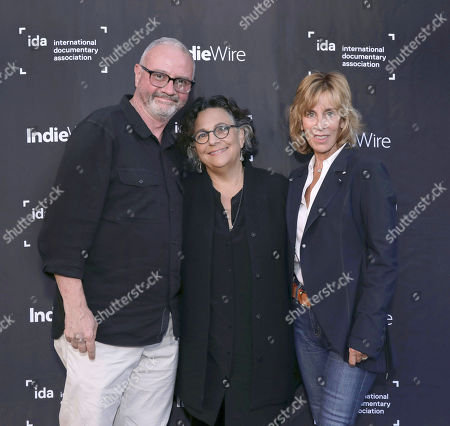 Stock Photo of IDA Executive Director Simon Kilmurry, Executive Director of the Committee to Protect Journalists Roberta Grossman and Nancy Spielberg