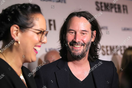 Karina Miller and Keanu Reeves