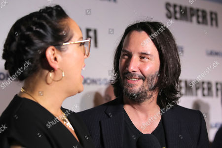 Stock Picture of Karina Miller and Keanu Reeves