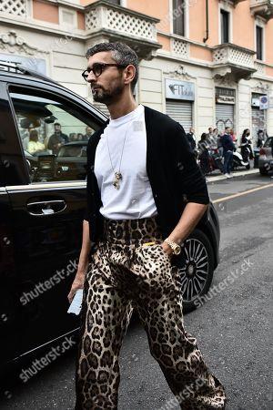 Editorial photo of Street Style, Spring Summer 2020, Milan Fashion Week, Italy - 22 Sep 2019