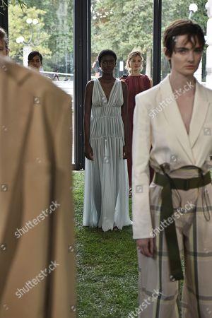 Editorial photo of Erika Cavallini show, Presentation, Spring Summer 2020, Milan Fashion Week, Italy - 22 Sep 2019