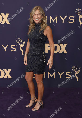 Stock Picture of Deborah Dugan arrives at the 71st Primetime Emmy Awards, at the Microsoft Theater in Los Angeles