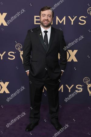 Derek Waters arrives at the 71st Primetime Emmy Awards, at the Microsoft Theater in Los Angeles